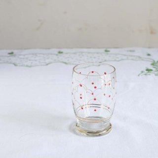 赤い水玉と雲のグラス/ハンガリー