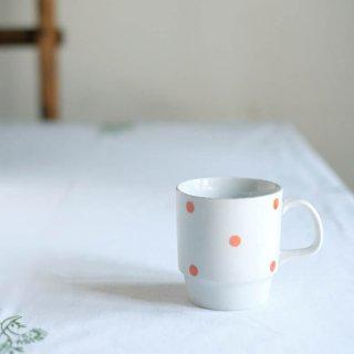 小さな水玉模様のマグカップ(朱赤)/ハンガリー