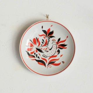 鳥モチーフが描かれた絵皿/ハンガリー