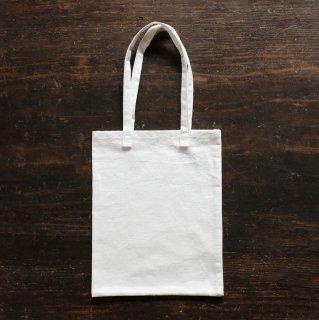 麻のミニトートバッグ/白