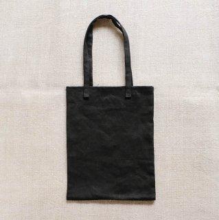 麻のミニトートバッグ/黒