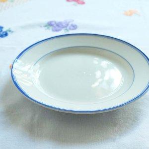 青いラインの平皿/ドイツ