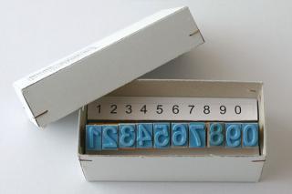 チェコの数字スタンプ