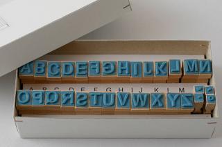 チェコのアルファベットスタンプ