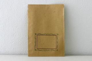 DDR時代のデッドストック紙袋 花枠(ワイン)
