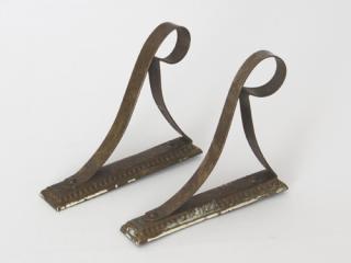 真鍮のフック(丸いふち飾り) 2個セット