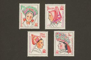 チェコスロヴァキアの切手/民俗衣装