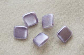 ヴィンテージガラスボタン/パールペイント 薄紫四角