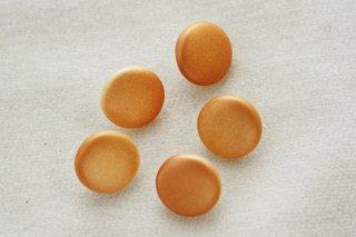 ヴィンテージガラスボタン/パールペイント オレンジ丸