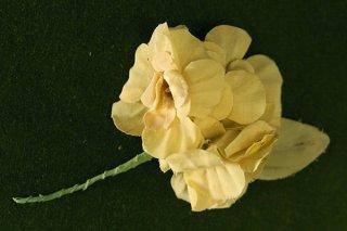 ヴィンテージコサージュ/水仙みたいな黄色の花