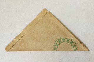 三角アジ紙袋(緑ギザ丸)/DDR