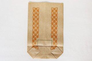 アジ紙袋(オレンジ四角模様)/DDR