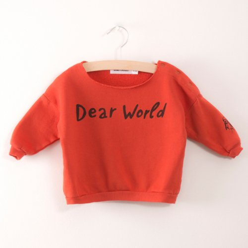【30%OFF】BOBO CHOSES ボボ ショセス 2017AW Baby Sweatshirt Dear World (BABY)
