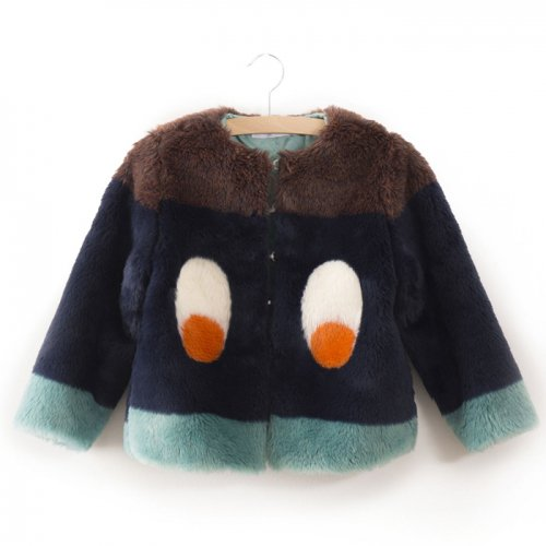 【30%OFF】BOBO CHOSES ボボ ショセス 2017AW FAUX FUR JACKET EYES  (KIDS)