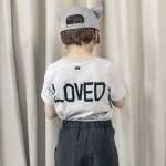 BEAULOVES ビューラブズ Short Sleeve Fin T Shirt, Cloud Grey, Global Traveller