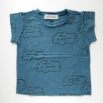 arkakama アルカカマ CLOUD S/S Tee - S.BLUE x CHARCOAL