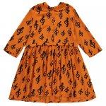 BEAULOVES ビューラブズ Oversized Collar Dress / Orange / Music AOP
