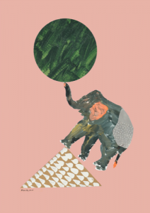Kentarou Tanaka Elephant Poster A3 (297x420)