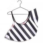 WOLF&RITA ウルフアンドリタ TULIPA - Shoulder Scarf - White Stripes