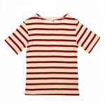 POPUPSHOP. / ポップアップショップ/ MARITIME SHORT SLEEVE TEE - OFF WHITE/RED STRIPES