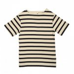 POPUPSHOP. / ポップアップショップ/ MARITIME SHORT SLEEVE TEE - OFF WHITE/NAVY STRIPES