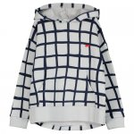 BEAU LOVES ビューラブズ Hoodie Sweater - Quiet Grey,Grid AOP,Navy