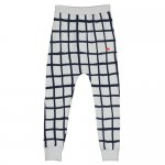BEAU LOVES ビューラブズ Velo Pants - Quiet Grey,Grid AOP,Navy