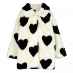 BEAU LOVES ビューラブズ Fur Jacket - Natural,Hearts Jacquard,Black