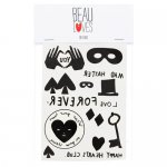 BEAU LOVES ビューラブズ Tattoos & Keyring Pack - Beau Loves Various,Black