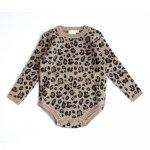 Mini Sibling Knit Body Longsleeve - Leopard Jacquard