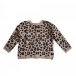 <img class='new_mark_img1' src='https://img.shop-pro.jp/img/new/icons47.gif' style='border:none;display:inline;margin:0px;padding:0px;width:auto;' />Mini Sibling Knit Sweater-Cardigan - Leopard Jacquard