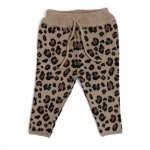 Mini Sibling Baby Long Pants - Leopard Jacquard