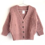 wynken ウィンケン BIG RIB CARDIGAN - CLAY PINK