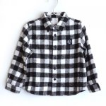 wynken ウィンケン APACHE SHIRT - BLACK / WHITE CHECK