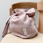 STUDIO NOOS rib mom-bag (Dusty pink)
