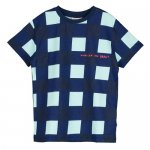 BEAU LOVES ビューラブズ Short Sleeve Tshirt - Navy, Gingham, Pale Green