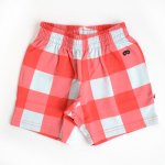 BEAU LOVES ビューラブズ Shorts - Red, Gingham, Sky Blue