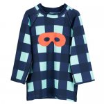 BEAU LOVES ビューラブズ Swim Top Navy - Gingham, Pale Green, Hero Mask