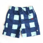 BEAU LOVES ビューラブズ Swimshorts - Navy, Gingham, Pale Green