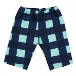 BEAU LOVES ビューラブズ Swim Cycle Pants - Navy, Gingham, Pale Green