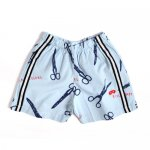 BEAU LOVES ビューラブズ Baby Short - Sky Blue, Rock Paper Scissors, Navy