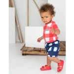 BEAU LOVES ビューラブズ Baby Short - Navy, Gingham, Pale Green