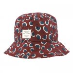 soft gallery Camden Hat - Russet Brown, AOP Coral