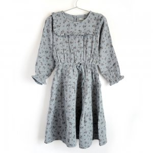 【the new society】【2020秋冬】 SARAH DRESS - SOFT BLUE FLOWERS