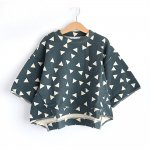 【arkakama】【BASIC】SPD M/S SWEATSHIRT - ▲Triangle (CHACOAL x IVORY)
