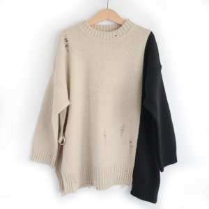 GRIS グリ Separete Side Slit Sweater / Born (S)