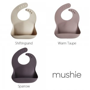 MUSHIE - Silicone Bib - Neutral Color