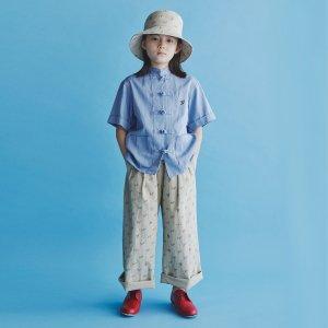 GRIS Wide Pants - Baige×Charcorl