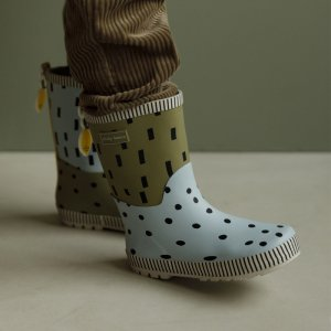 【sticky lemon】Rain boots | seventies green + sky blue + retro yellow