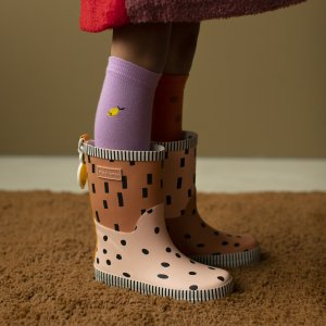 【sticky lemon】Rainboots | candy pink + faded orange + carrot orange